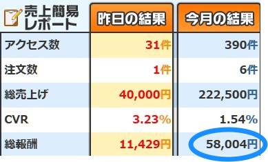 1ヶ月5万円を稼いでいる証拠画像