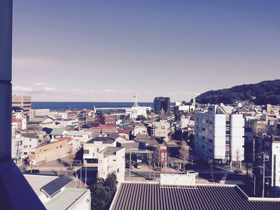 旅館のバルコニーから見える景色2