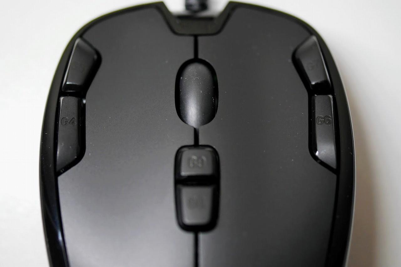ゲーミングマウス-ロジクール-G300s-ボタンのアップ